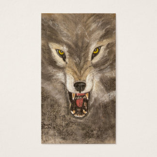 Snarling Wolf Business Card
