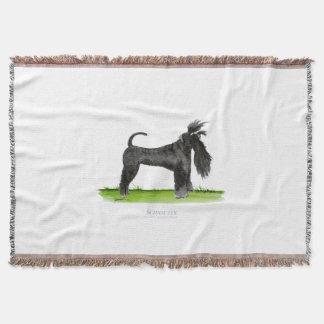 Snauzer dog, tony fernandes throw blanket