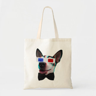 Snazzy 3D Dog Budget Tote Bag