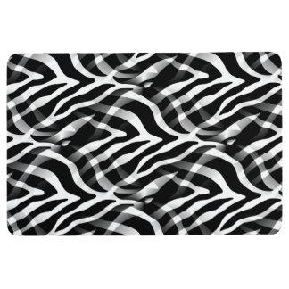 Snazzy Black and White Zebra Stripes Print Floor Mat