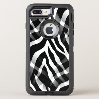Snazzy Black and White Zebra Stripes Print OtterBox Defender iPhone 8 Plus/7 Plus Case
