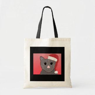 Snazzy Christmas Cat Budget Tote Bag