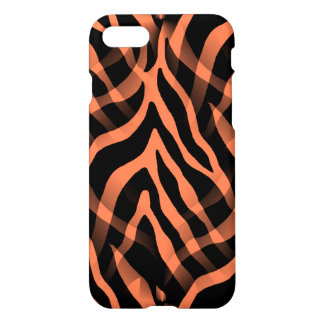 Snazzy Coral Zebra Stripes iPhone 7 Case