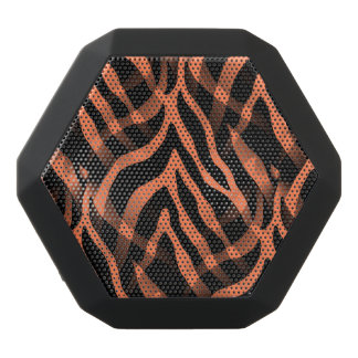 Snazzy Coral Zebra Stripes Print Black Boombot Rex Bluetooth Speaker