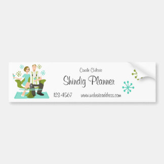 Snazzy Couple Car Bumper Sticker