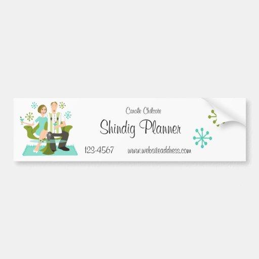 Snazzy Couple Bumper Sticker