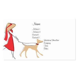 Snazzy Dog Walker Pack Of Standard Business Cards