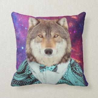 Snazzy Galaxy Wolf Cushion