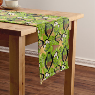 Snazzy Green Fifties Style | Mid-Century Short Table Runner
