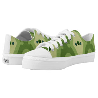Snazzy Green Zipz Low Top Sneakers - Tennis Shoes