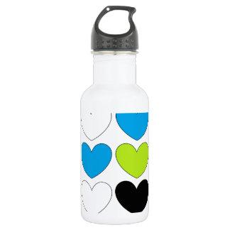 Snazzy Hearts 532 Ml Water Bottle