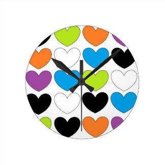 Snazzy Hearts Clock