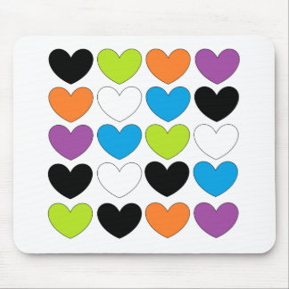 Snazzy Hearts Mouse Pad