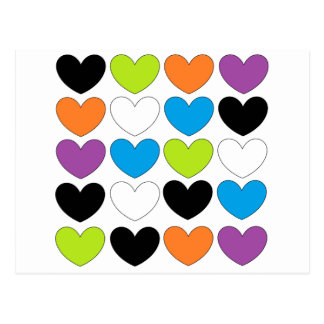 Snazzy Hearts Postcard