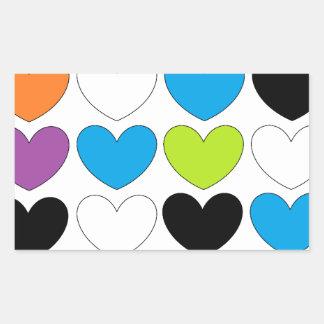 Snazzy Hearts Rectangular Sticker