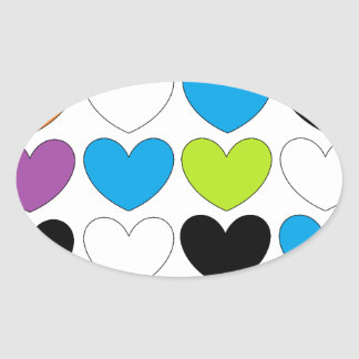 Snazzy Hearts Stickers