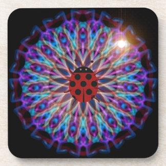 Snazzy Ladybug Kaleidoscope gift collection Drink Coaster