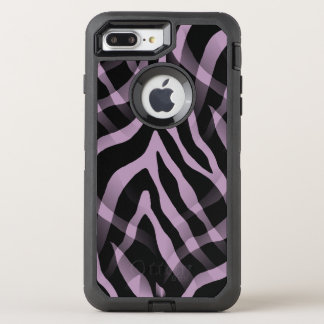 Snazzy Lavender Purple Zebra Stripes Print OtterBox Defender iPhone 8 Plus/7 Plus Case