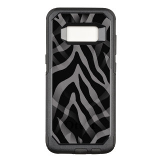 Snazzy Neutral Gray Zebra Stripes OtterBox Commuter Samsung Galaxy S8 Case