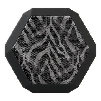 Snazzy Neutral Gray Zebra Stripes Print Black Boombot Rex Bluetooth Speaker