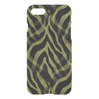 Snazzy Olive Green Zebra Stripes iPhone 7 Case