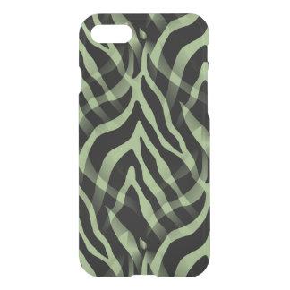 Snazzy Sage Green Zebra Stripes iPhone 7 Case