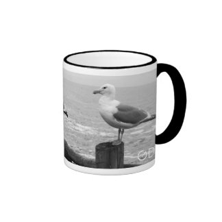 Snazzy Seagulls Ringer Coffee Mug