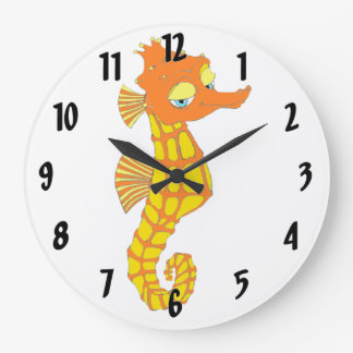 Snazzy Seahorse Large Clock