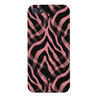 Snazzy Strawberry Pink Zebra Stripes Print Case For The iPhone 5