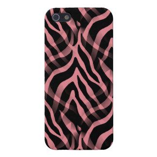 Snazzy Strawberry Pink Zebra Stripes Print iPhone 5/5S Case