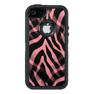 Snazzy Strawberry Pink Zebra Stripes Print OtterBox iPhone 5/5s/SE Case