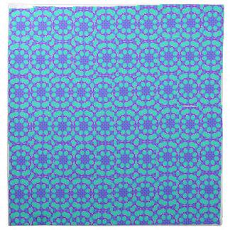 Snazzy turquoise napkin