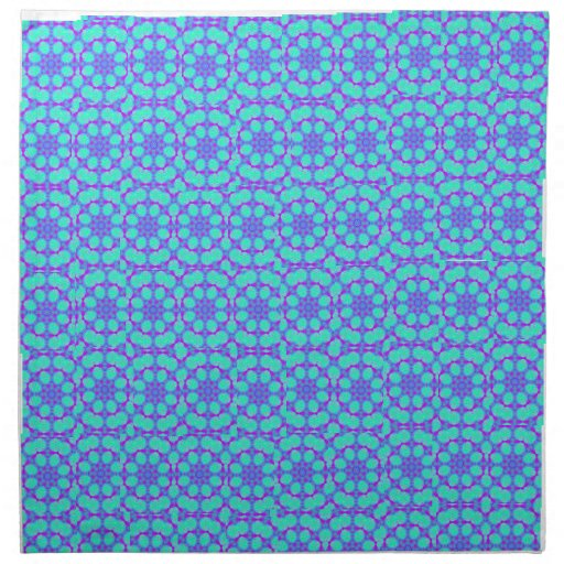 Snazzy turquoise cloth napkin