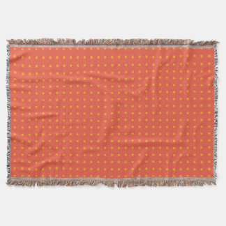 Snazzy Yellow Polka Dots (Change Color) Throw Blanket