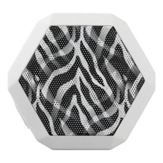 Snazzy Zebra Stripes Print White Boombot Rex Bluetooth Speaker