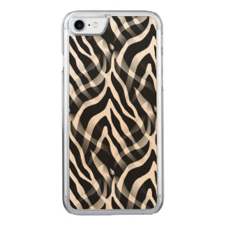 Snazzy Zebra Stripes Print Carved iPhone 8/7 Case