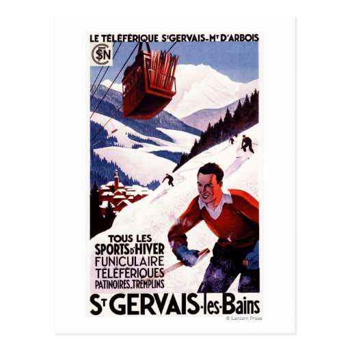 SNCF Railway Cable Car Promo Poster Postcards