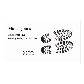 Sneakers Black & White Imprint Business Card Template