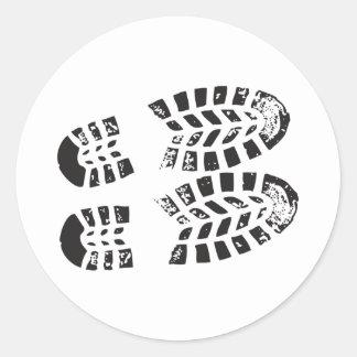 Sneakers Black White Imprint Stickers