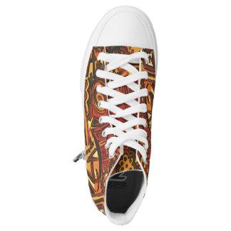 Sneakers boots Orange. Sneakers hight Orange