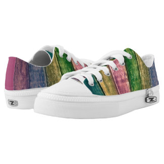Sneakers in Colorful wooden optic