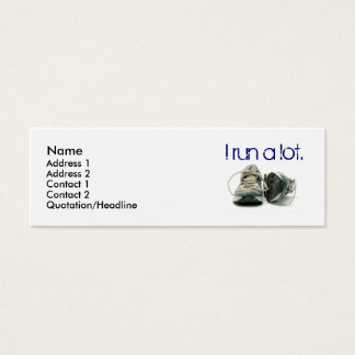 sneakers, Name, Address 1, Address 2, Contact 1... Mini Business Card