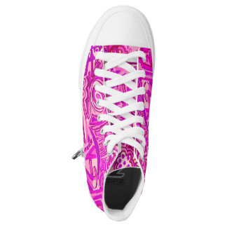 Sneakers of pink design. Rose snakers