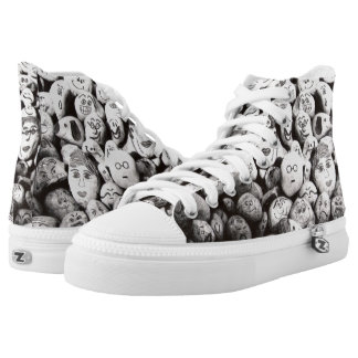 Sneakers type talk rocks with faces