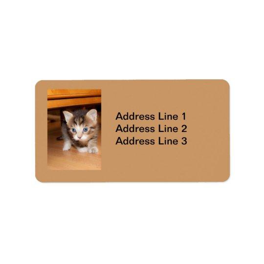 Sneaking Kitten Label Address Label
