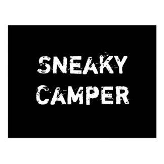 Sneaky Camper. Gamer Postcard