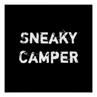 Sneaky Camper. Gamer Poster