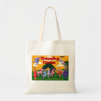 Sneaky Cows and Unicorn Budget Tote Bag