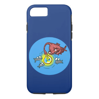 sneaky deep fish going to cheat cartoo iPhone 8/7 case