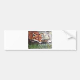 Sneaky Fox Bumper Sticker